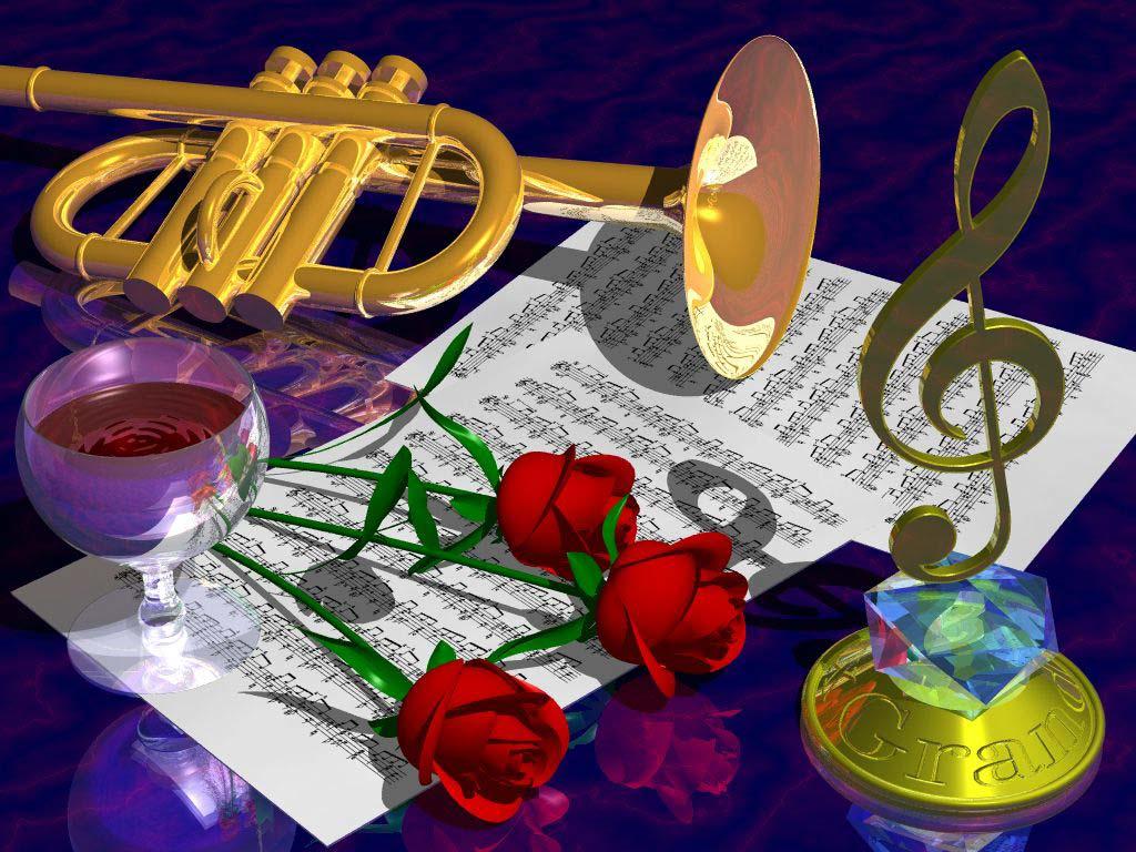 Праздничная открытка к дню рождения музыкальная6